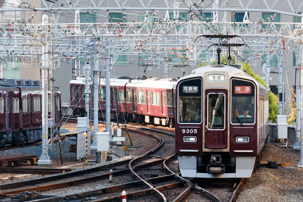 阪急京都線落雷